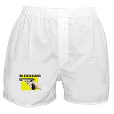NO TRESPASSING Boxer Shorts