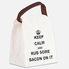 Cute Bacon Canvas Lunch Bag