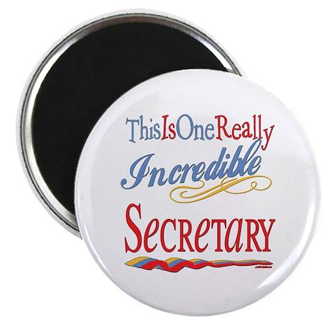 """Incredible Secretary 2.25"""" Magnet (100 pack)"""