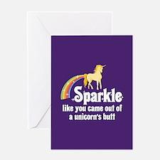 Unicorn Butt Greeting Card
