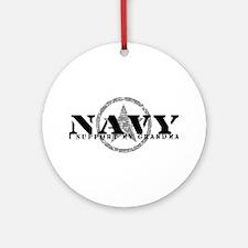 Navy - I Support My Grandma Ornament (Round)