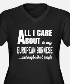 All I care a Women's Plus Size V-Neck Dark T-Shirt