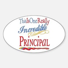 Incredible Principal Oval Decal