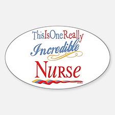 Incredible Nurse Oval Decal