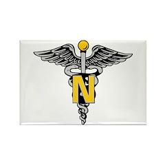 Nurse Caduceus Rectangle Magnet