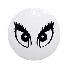 Girly Eyes Ornament (Round)