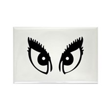 Girly Eyes Rectangle Magnet
