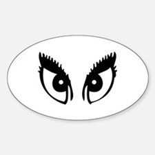 Girly Eyes Oval Decal