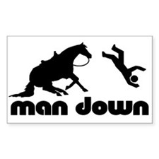 man down reiner Rectangle Decal