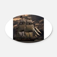 Talk like a pirate Oval Car Magnet