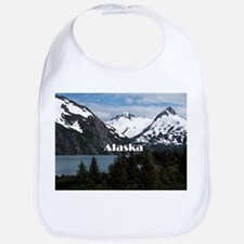 Alaska: Portage Lake and mountains Bib