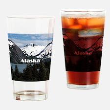 Alaska: Portage Lake and mountains Drinking Glass