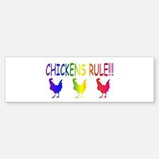 Chickens Rule Sticker (Bumper)