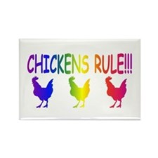 Chickens Rule Rectangle Magnet