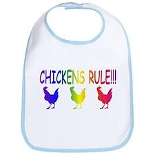 Chickens Rule Bib