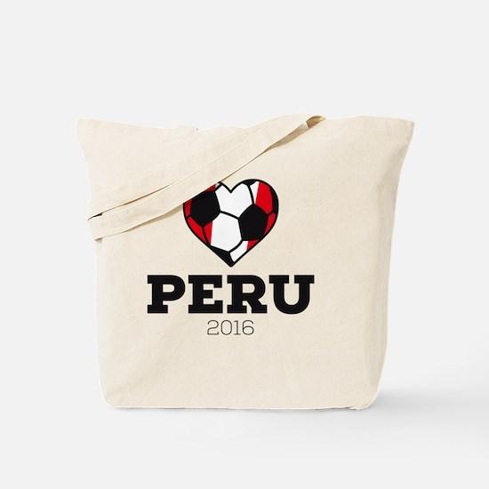 Cute Peru soccer Tote Bag