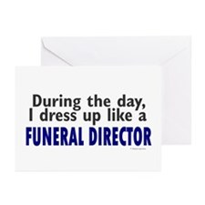 Dress Up Like A Funeral Director Greeting Cards (P