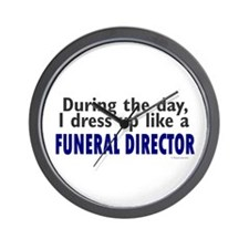 Dress Up Like A Funeral Director Wall Clock