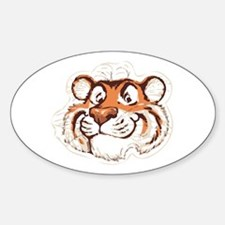 Tiger Smile Oval Decal