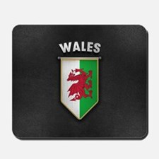 Wales Pennant with high quality leather Mousepad