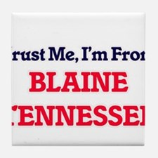 Trust Me, I'm from Blaine Tennessee Tile Coaster