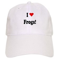 I Heart (Love) Frogs Baseball Cap