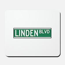 Linden Boulevard Sign Mousepad