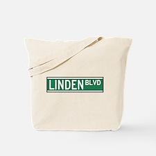 Linden Boulevard Sign Tote Bag