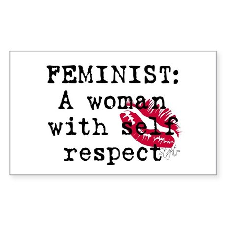 Feminist definition rectangle decal by striptcouture Stickers definition