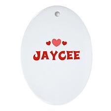 Jaycee Oval Ornament