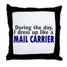Dress Up Like A Mail Carrier Throw Pillow