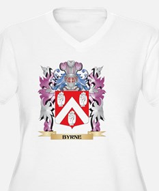 Byrne Coat of Arms (Family Crest Plus Size T-Shirt