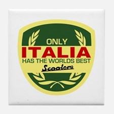 Italia Scooter Tile Coaster