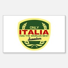Italia Scooter Rectangle Decal