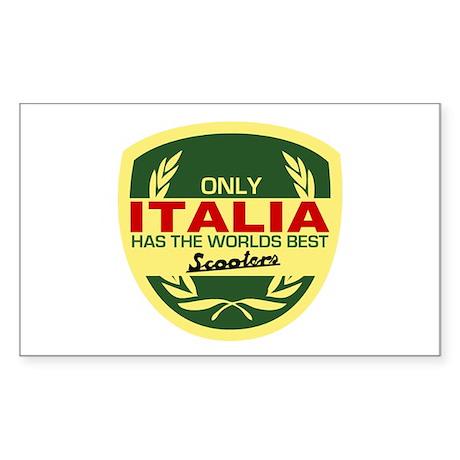 Italia Scooter Rectangle Sticker
