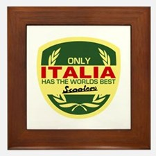 Italia Scooter Framed Tile