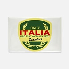 Italia Scooter Rectangle Magnet