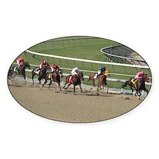 Helaine's Horse Race 2 Oval Decal
