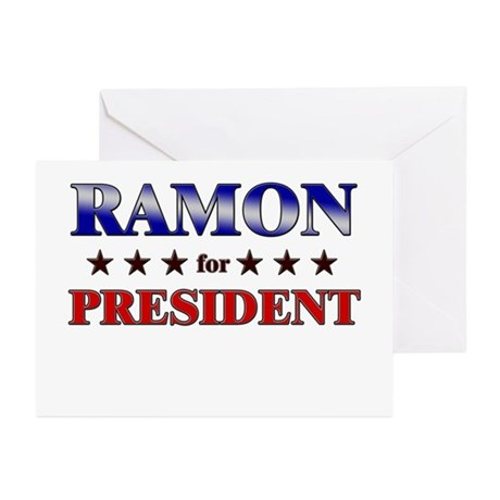 RAMON for president Greeting Cards (Pk of 20)