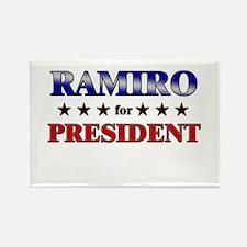 RAMIRO for president Rectangle Magnet
