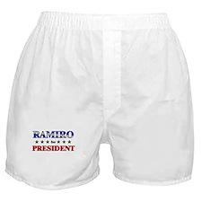 RAMIRO for president Boxer Shorts