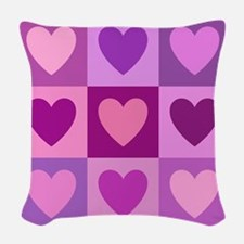 Hearts Ppm Woven Throw Pillow