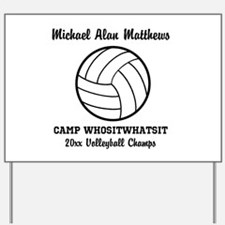Custom Volleyball Player Name | Team | Y Yard Sign
