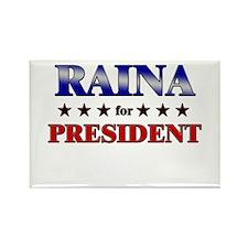 RAINA for president Rectangle Magnet (10 pack)