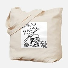 Knitters Rock! Tote Bag
