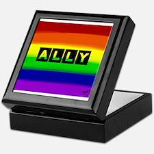 ALLY gay rainbow art Keepsake Box