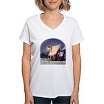 Snowy Cabin Women's V-Neck T-Shirt