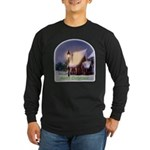 Snowy Cabin Long Sleeve Dark T-Shirt