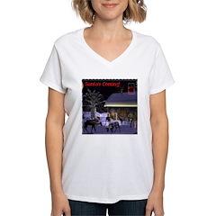 Santa's Coming! Women's V-Neck T-Shirt