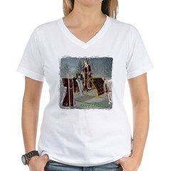 Mr 'N Mrs Claus Women's V-Neck T-Shirt